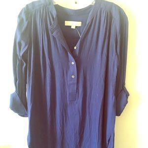 Blue Long-Sleeve Tunic